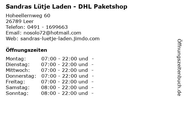 Sandras Lütje Laden - DHL Paketshop in Leer: Adresse und Öffnungszeiten