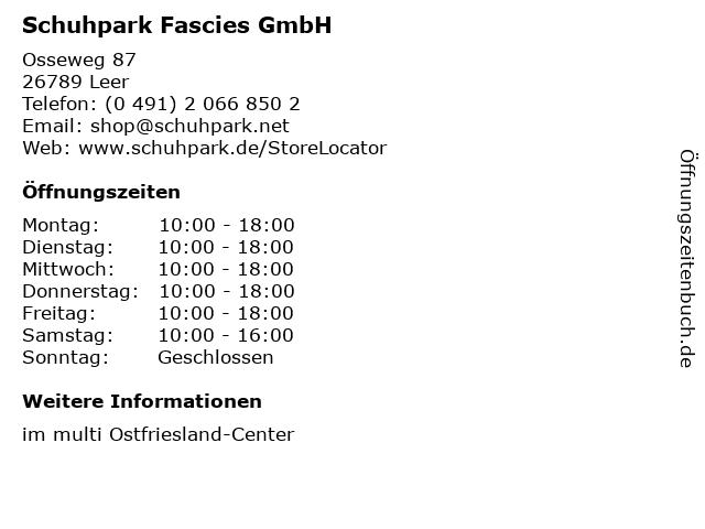 Schuhpark Fascies GmbH in Leer: Adresse und Öffnungszeiten