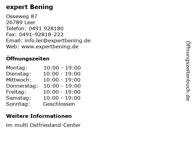 expert Bening GmbH & Co. KG in Leer: Adresse und Öffnungszeiten