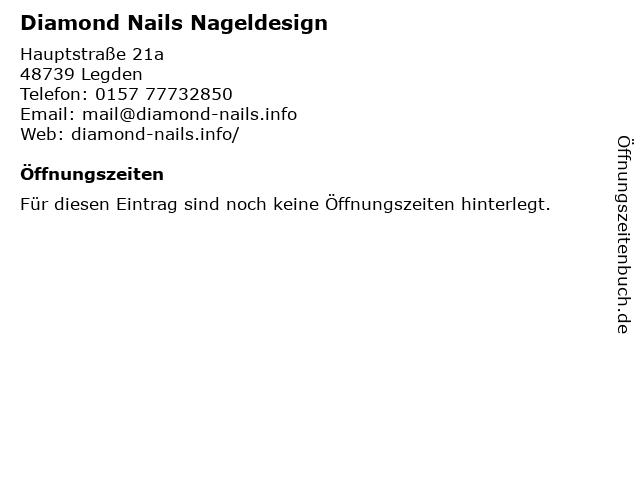 Diamond Nails Nageldesign in Legden: Adresse und Öffnungszeiten