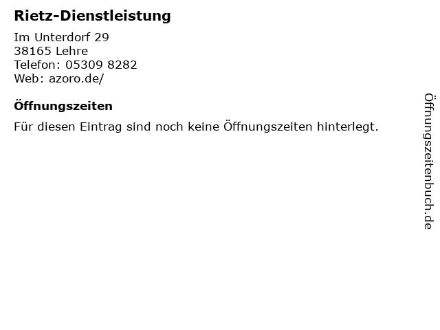 Rietz-Dienstleistung in Lehre: Adresse und Öffnungszeiten