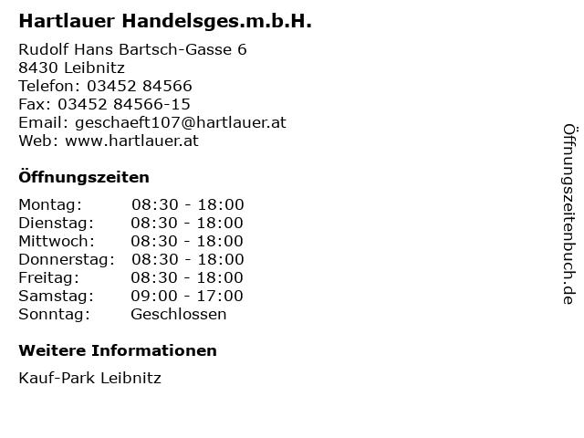 Hartlauer Handelsges.m.b.H. in Leibnitz: Adresse und Öffnungszeiten