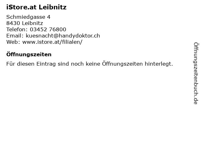 iStore.at Leibnitz in Leibnitz: Adresse und Öffnungszeiten