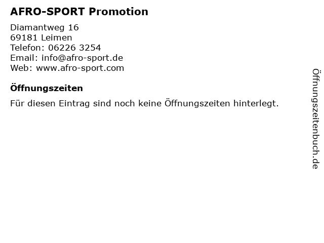 AFRO-SPORT Promotion in Leimen: Adresse und Öffnungszeiten