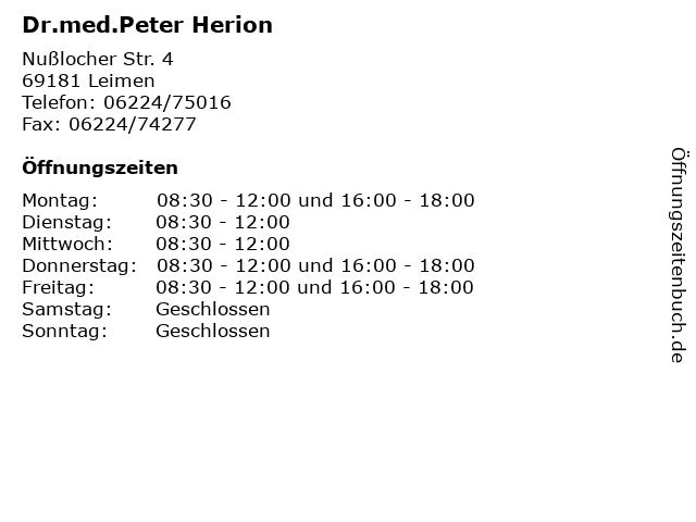 Dr Herion Leimen