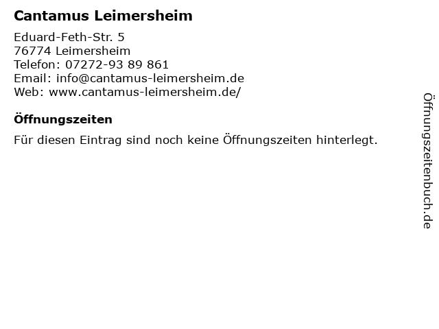 Cantamus Leimersheim in Leimersheim: Adresse und Öffnungszeiten