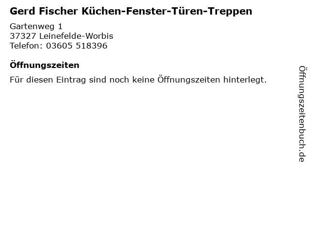 ᐅ Offnungszeiten Gerd Fischer Kuchen Fenster Turen Treppen