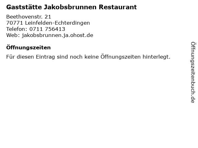 Gaststätte Jakobsbrunnen Restaurant in Leinfelden-Echterdingen: Adresse und Öffnungszeiten