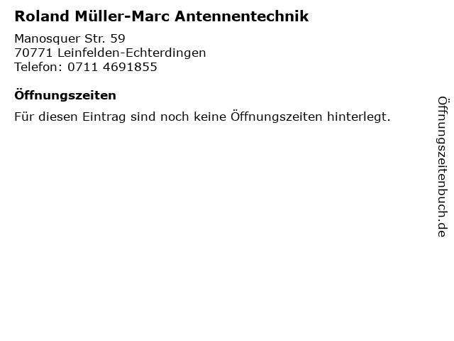 Roland Müller-Marc Antennentechnik in Leinfelden-Echterdingen: Adresse und Öffnungszeiten