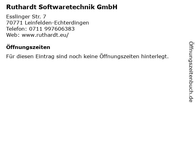 Ruthardt Softwaretechnik GmbH in Leinfelden-Echterdingen: Adresse und Öffnungszeiten