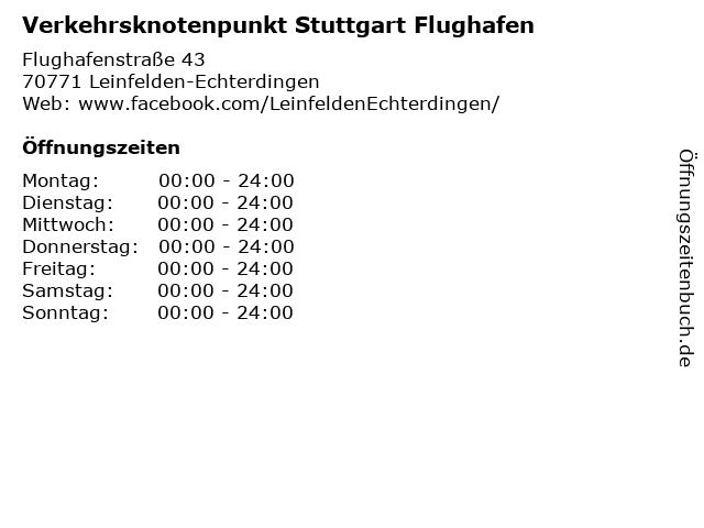 Verkehrsknotenpunkt Stuttgart Flughafen in Leinfelden-Echterdingen: Adresse und Öffnungszeiten