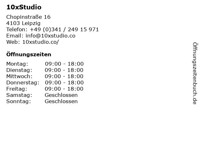 10xStudio in Leipzig: Adresse und Öffnungszeiten