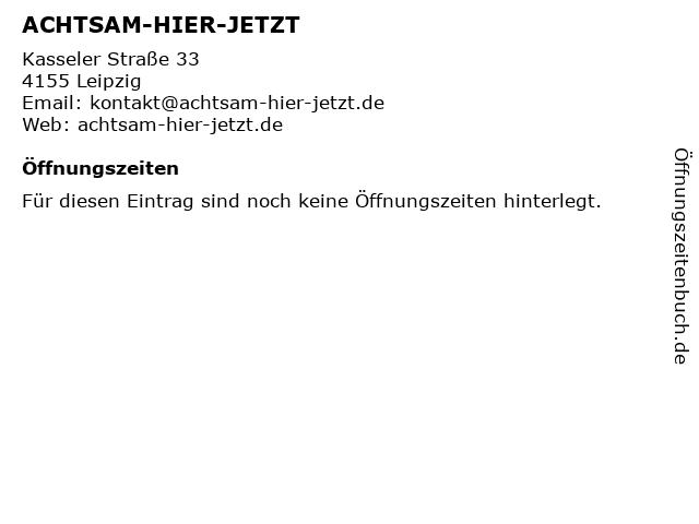 ACHTSAM-HIER-JETZT in Leipzig: Adresse und Öffnungszeiten