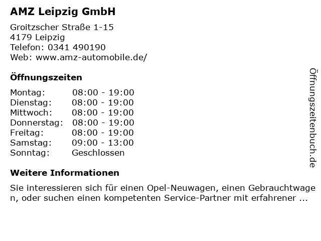 AMZ Leipzig GmbH in Leipzig: Adresse und Öffnungszeiten