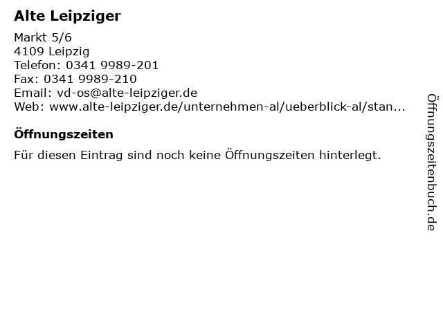 Alte Leipziger in Leipzig: Adresse und Öffnungszeiten