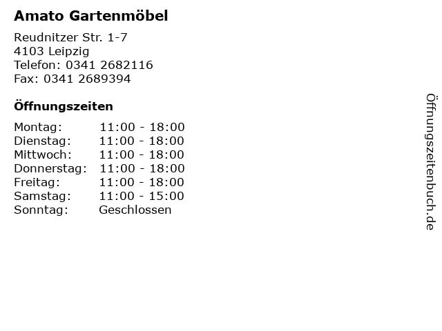 ᐅ öffnungszeiten Amato Gartenmöbel Reudnitzer Str 1 7 In Leipzig