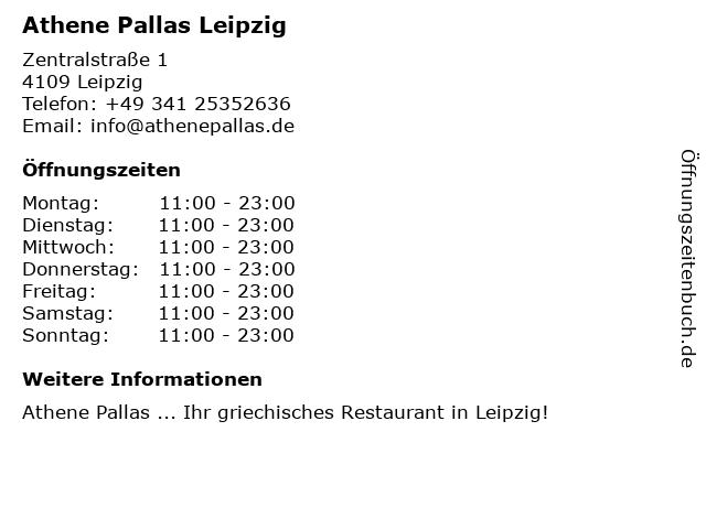 Athene Pallas Leipzig in Leipzig: Adresse und Öffnungszeiten