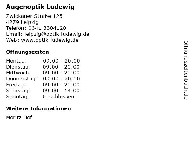 Augenoptik Ludewig in Leipzig: Adresse und Öffnungszeiten
