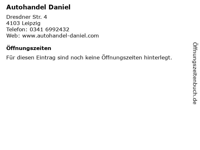 Autohandel Daniel in Leipzig: Adresse und Öffnungszeiten