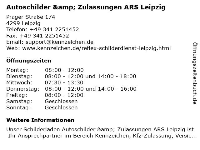 Auto Reflex Schilderdienst Leipzig in Leipzig: Adresse und Öffnungszeiten