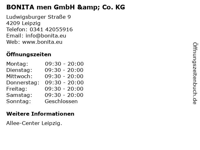 BONITA men GmbH & Co. KG in Leipzig: Adresse und Öffnungszeiten