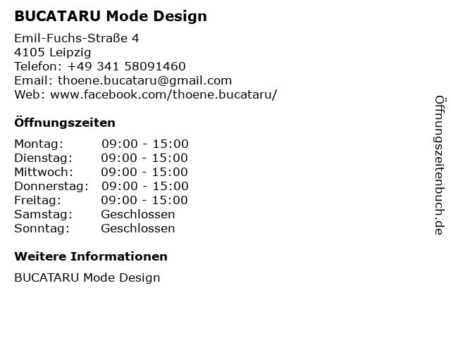BUCATARU Mode Design in Leipzig: Adresse und Öffnungszeiten