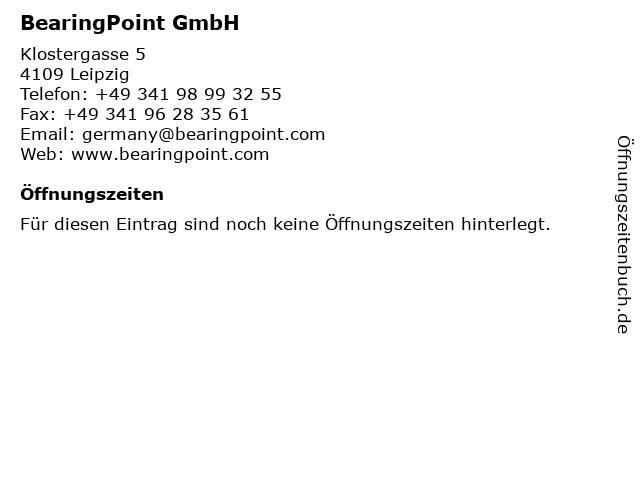 BearingPoint GmbH in Leipzig: Adresse und Öffnungszeiten