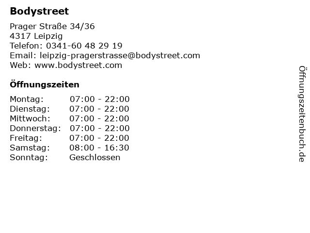 Bodystreet in Leipzig: Adresse und Öffnungszeiten