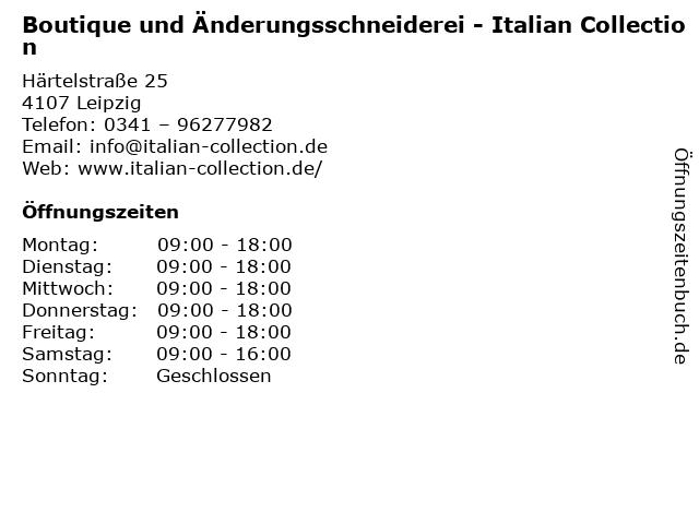 Boutique und Änderungsschneiderei - Italian Collection in Leipzig: Adresse und Öffnungszeiten