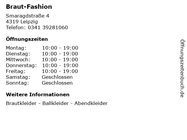 Braut-Fashion in Leipzig: Adresse und Öffnungszeiten