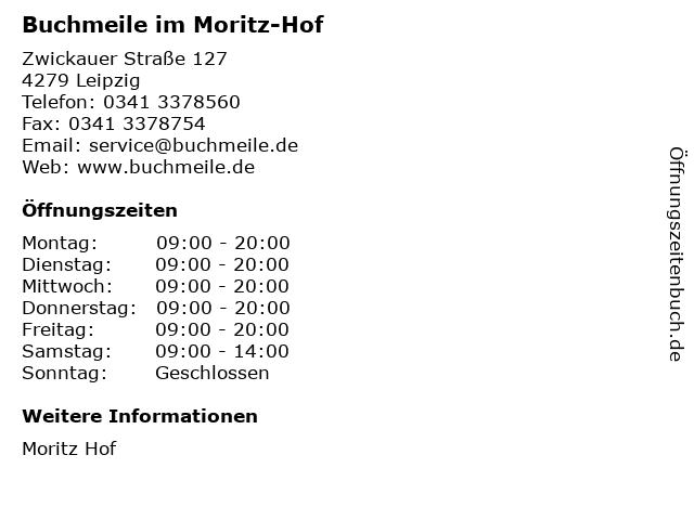 Buchmeile im Moritz-Hof in Leipzig: Adresse und Öffnungszeiten