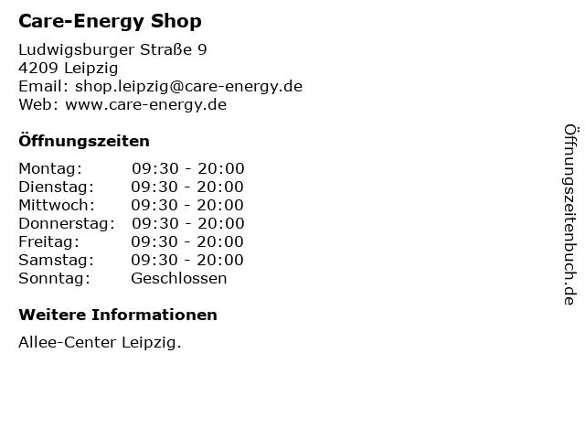 Care-Energy Shop in Leipzig: Adresse und Öffnungszeiten