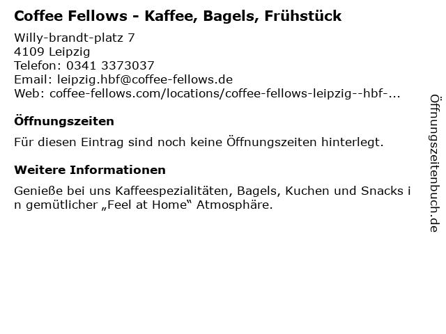 Coffee Fellows in Leipzig: Adresse und Öffnungszeiten