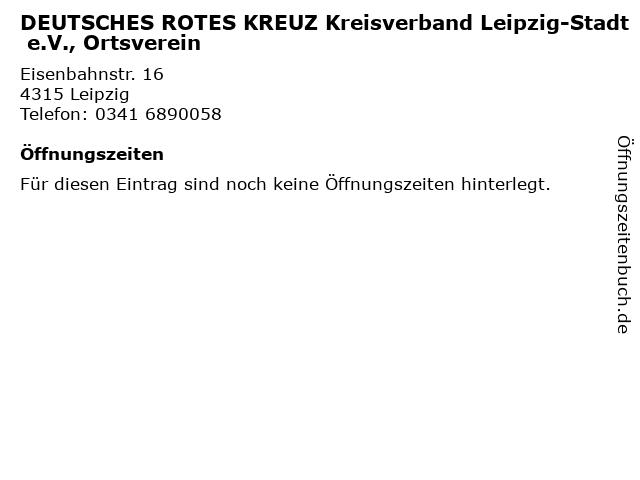 DEUTSCHES ROTES KREUZ Kreisverband Leipzig-Stadt e.V., Ortsverein in Leipzig: Adresse und Öffnungszeiten