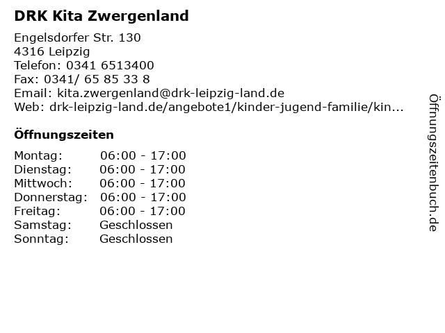 """ᐅ Öffnungszeiten """"DRK Kita Zwergenland""""   Engelsdorfer Str"""