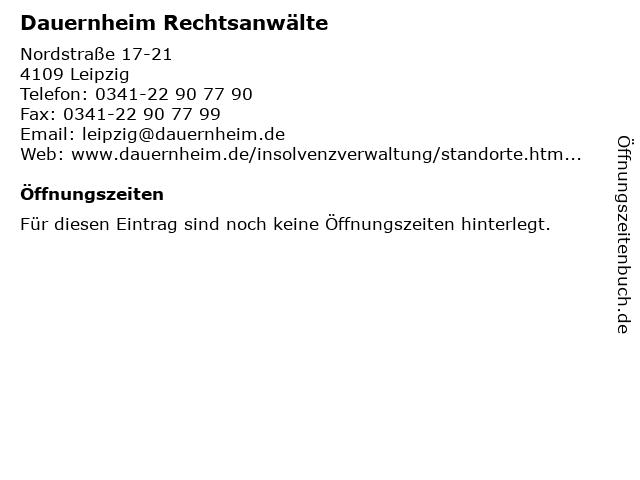 Dauernheim Rechtsanwälte in Leipzig: Adresse und Öffnungszeiten