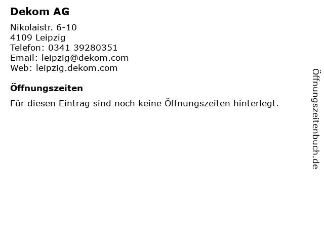 Dekom AG in Leipzig: Adresse und Öffnungszeiten