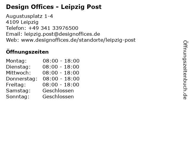 Design Offices - Leipzig Post in Leipzig: Adresse und Öffnungszeiten