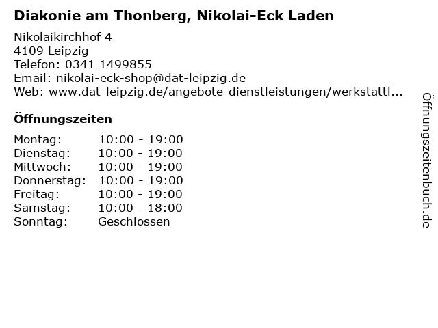 Diakonie am Thonberg, Nikolai-Eck Laden in Leipzig: Adresse und Öffnungszeiten
