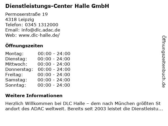 Dienstleistungs-Center Halle GmbH in Leipzig: Adresse und Öffnungszeiten