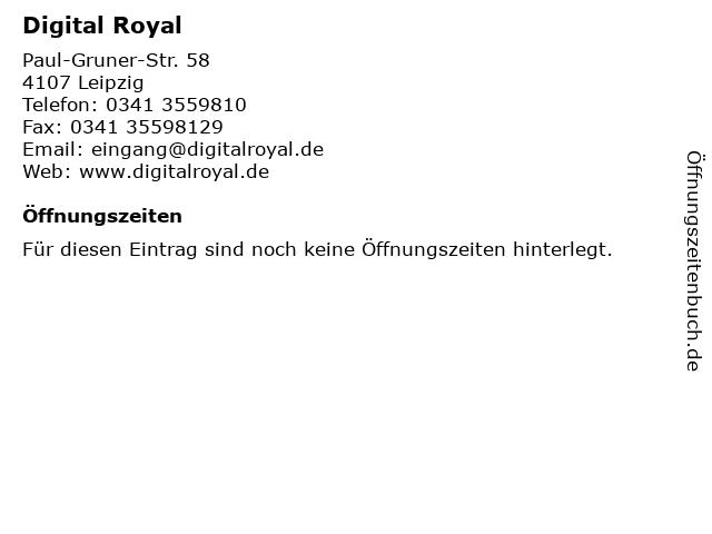 Digital Royal GmbH in Leipzig: Adresse und Öffnungszeiten