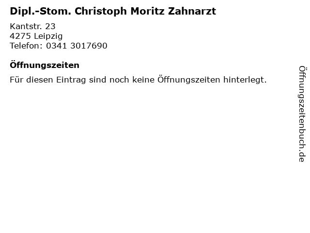 Dipl.-Stom. Christoph Moritz Zahnarzt in Leipzig: Adresse und Öffnungszeiten