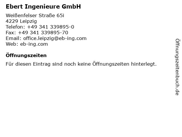 Ebert Ingenieure GmbH in Leipzig: Adresse und Öffnungszeiten