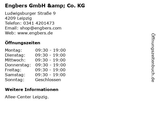 Engbers GmbH & Co. KG in Leipzig: Adresse und Öffnungszeiten