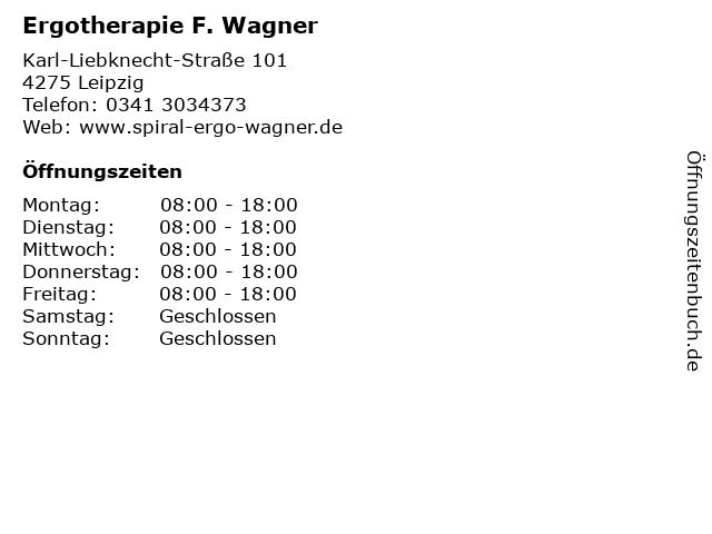 Ergotherapie F. Wagner in Leipzig: Adresse und Öffnungszeiten