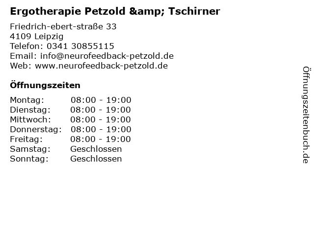 Ergotherapie Petzold & Tschirner in Leipzig: Adresse und Öffnungszeiten