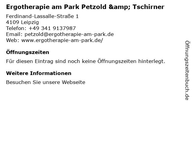 Ergotherapie am Park Petzold & Tschirner in Leipzig: Adresse und Öffnungszeiten