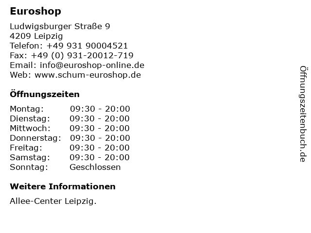 Euroshop in Leipzig: Adresse und Öffnungszeiten