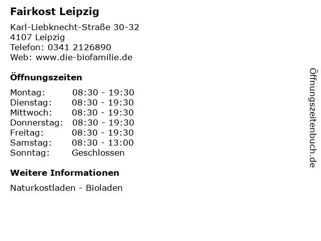 Fairkost Leipzig in Leipzig: Adresse und Öffnungszeiten