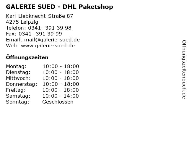 GALERIE SUED - DHL Paketshop in Leipzig: Adresse und Öffnungszeiten